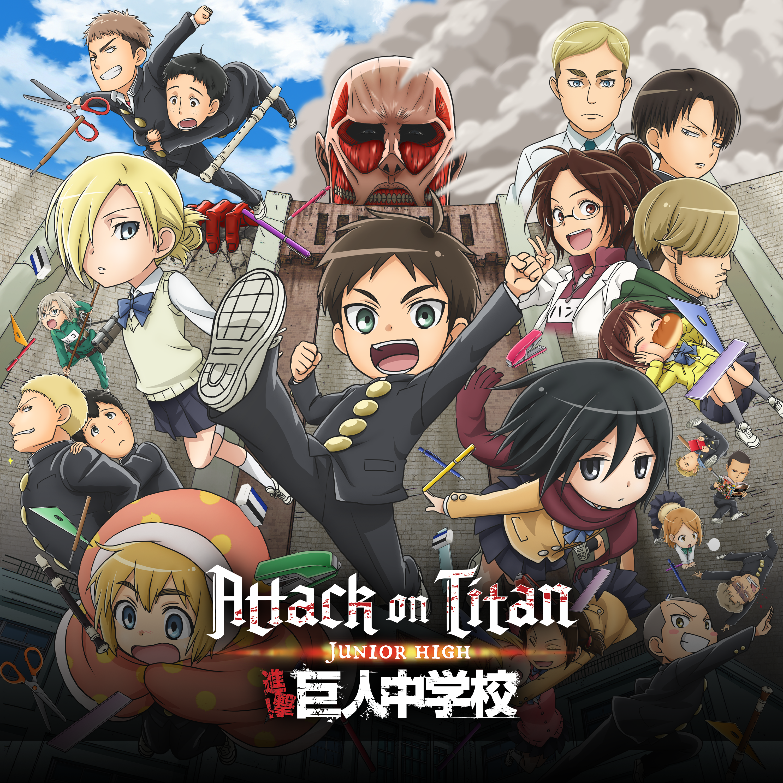 Watch Attack On Titan Junior High Sub Dub Comedy Anime Funimation