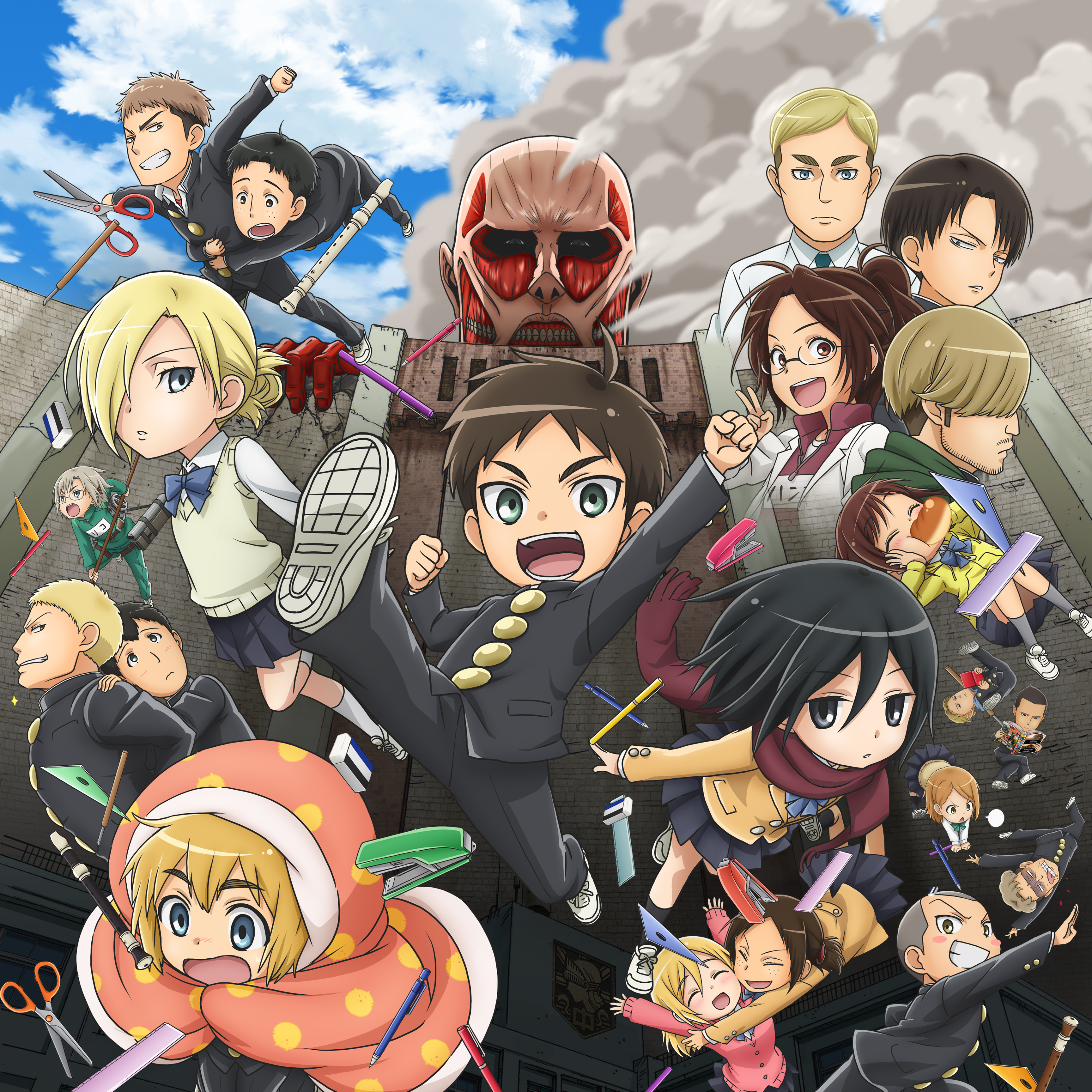 Watch Attack On Titan: Junior High Episodes Sub & Dub | Comedy Anime