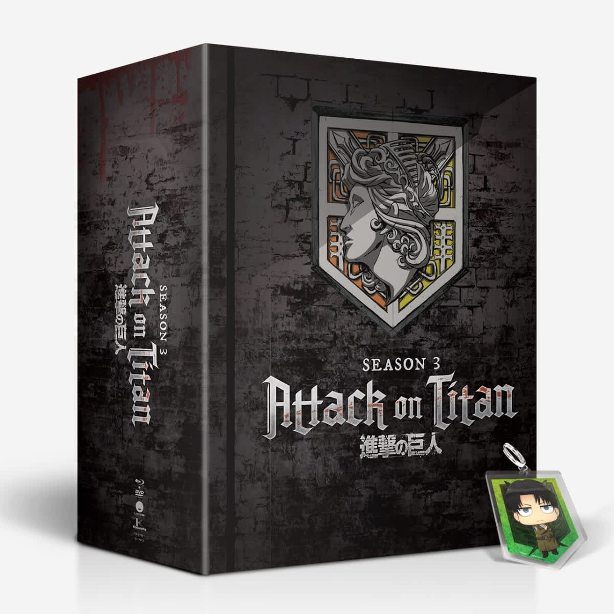 Attack on Titan - Season Three Part One BD/DVD Combo LE + Funimation  Exclusive