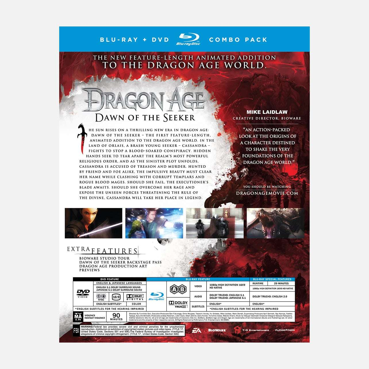 Shop Dragon Age Dawn Of The Seeker Movie Dawn Of The Seeker Funimation