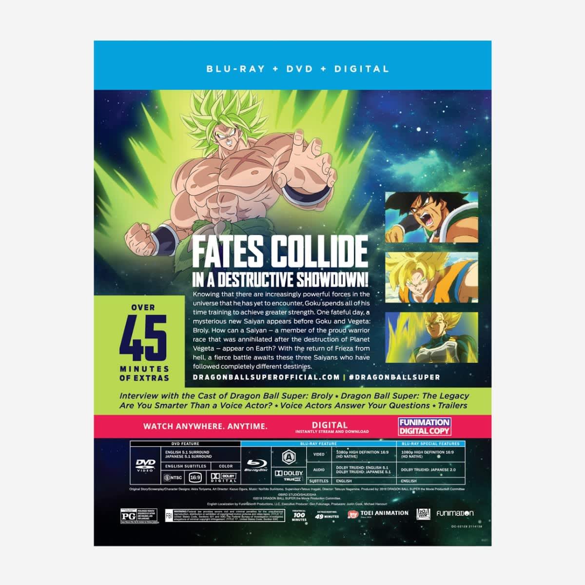 Shop Dragon Ball Super Broly The Movie Bd Dvd Combo Fun