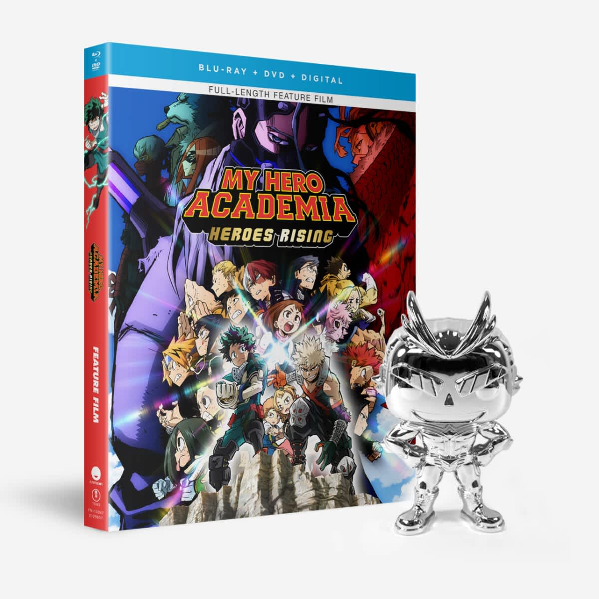 Shop My Hero Academia Heroes Rising Bd Dvd Digital All Might Silver Chrome Funko Pop Funimation
