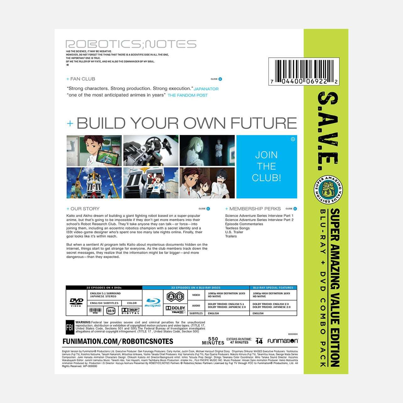 Robotics Notes The Complete Series S A V E Home Video