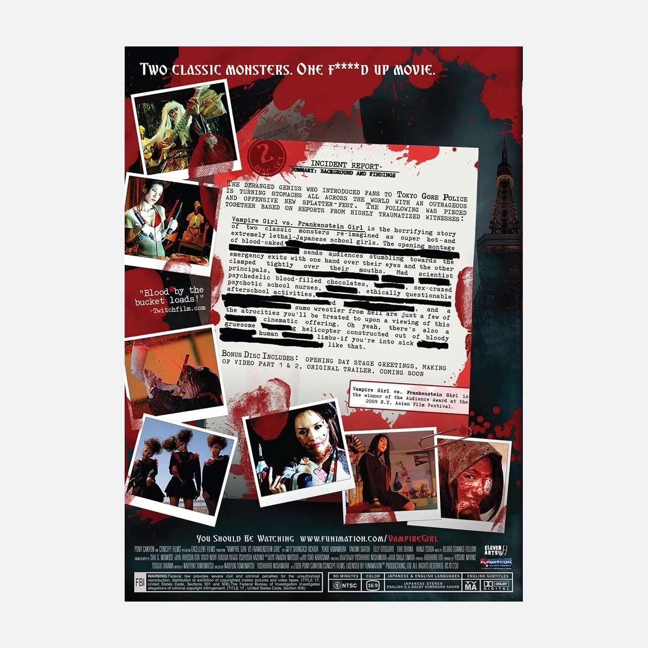 Vampire Girl vs Frankenstein Girl - The Movie | Home-Video