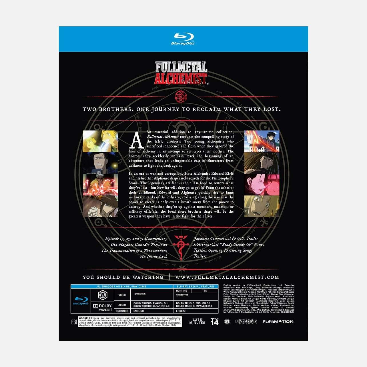 Shop Fullmetal Alchemist The Complete Series | Funimation