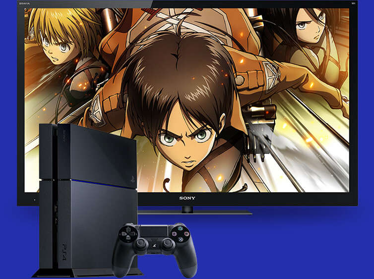 Watch Anime on PlayStation PS4