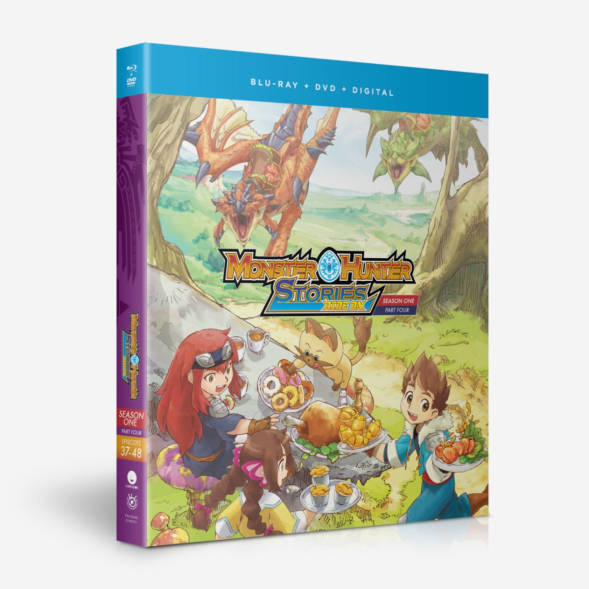 Monster Hunter Stories Ride On Season 1 Part 4 Blu Ray Dvd
