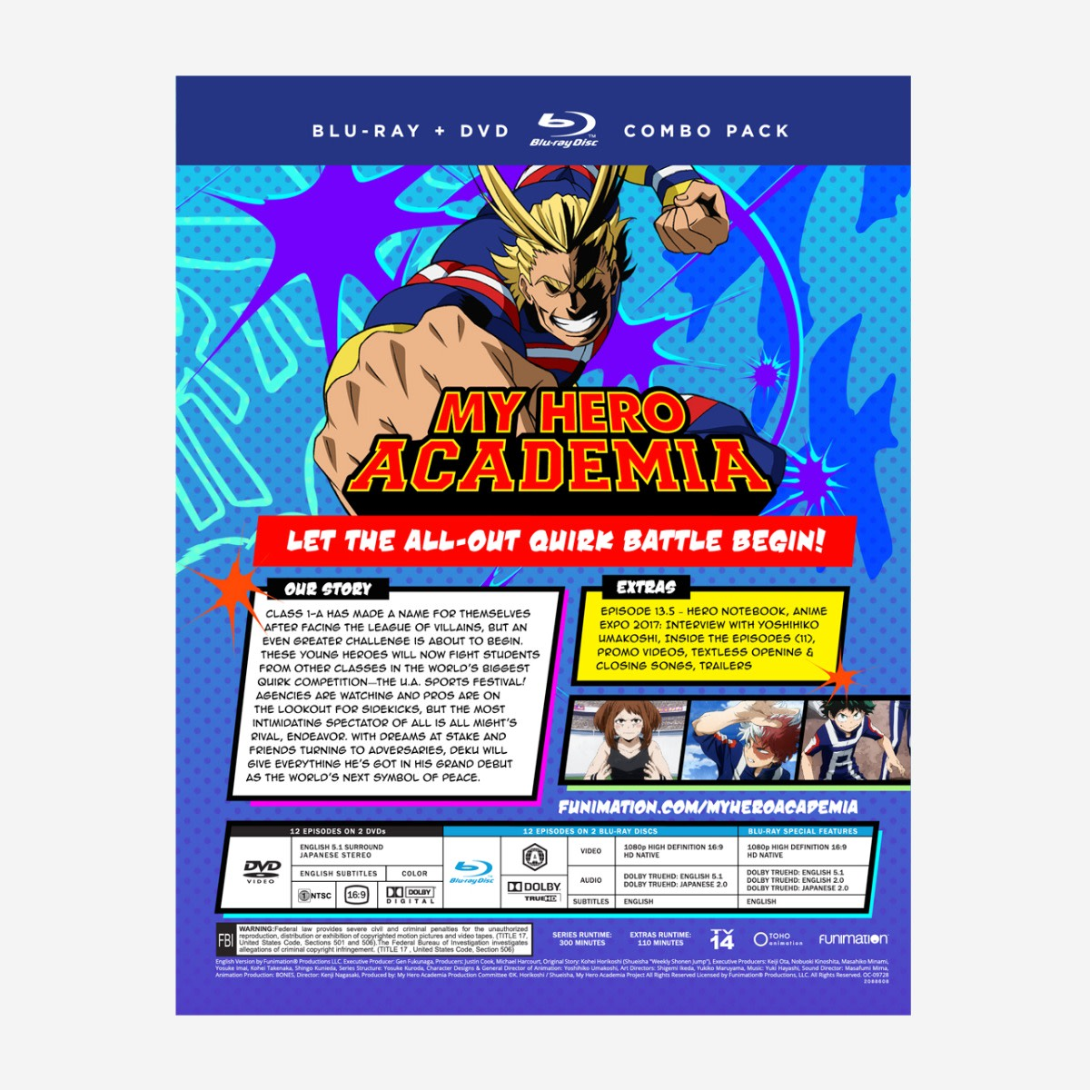My Hero Academia: Season 2, Part 1 (Blu-ray / DVD Combo